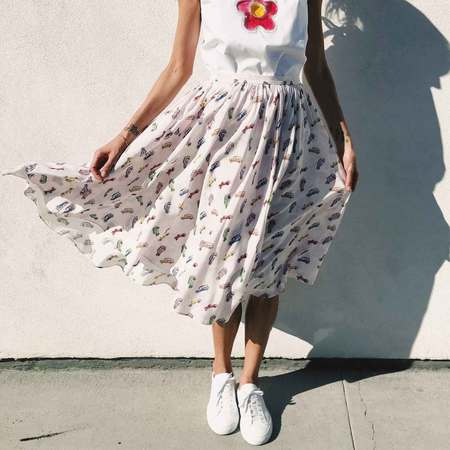 Sandy Liang Linguini Skirt
