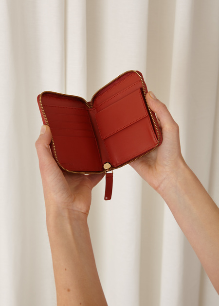 The Stowe Square Wallet - Paprika