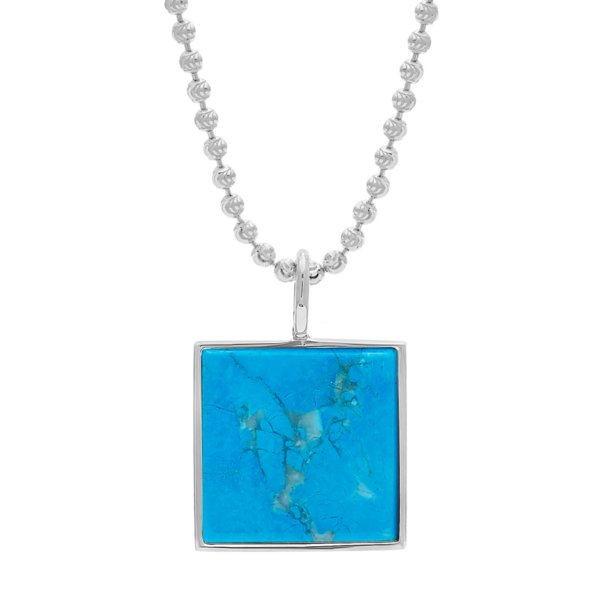 Unisex Tarin Thomas Samuel Necklace - Turquoise