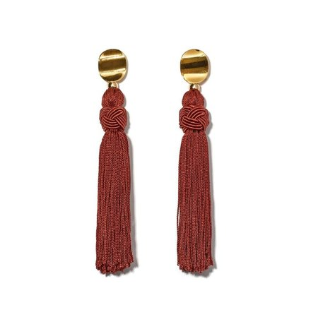 Lizzie Fortunato Luxe Tassel Earrings in Sienna