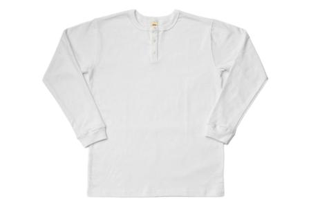 3Sixteen Long Sleeve Henley White