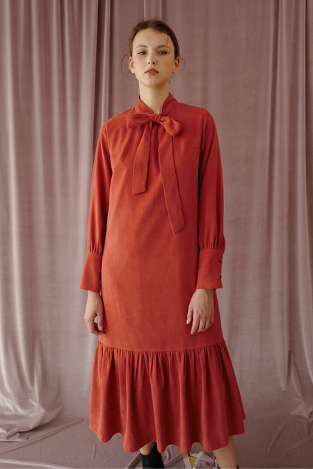 Among Tie Dress - Rust