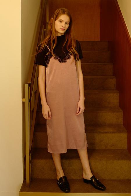 Among Laced slip dress