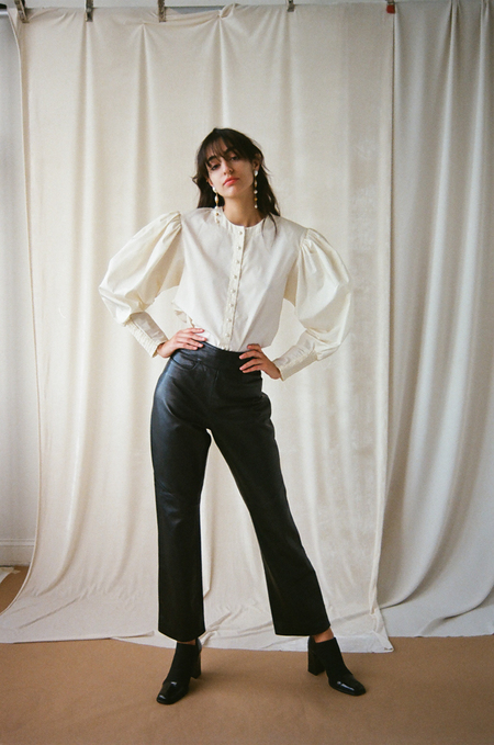 Either, And Vintage Cole Han Leather Cropped Pant