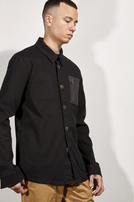 Basus STRAIGHT OVERSHIRT BLACK