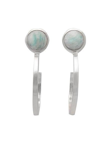 Sarah Mulder Ignite Small Hoops - Silver (3 Stone Options)