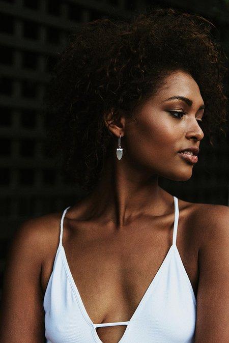Sarah Mulder Spark Earrings Moonstone - Silver/Gold