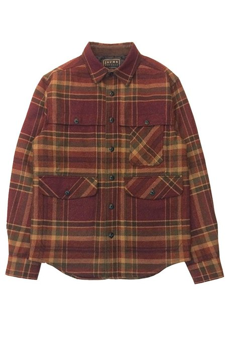 Jachs Plaid Wool Blend Hunting Jacket