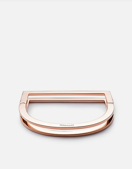 Miansai Square Bar Cuff - Rose Gold Plated Polished