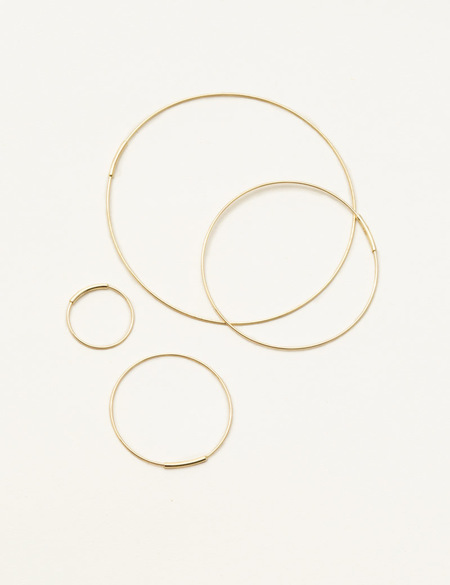 Kathleen Whitaker Extra Small Hoop Earrings PAIR