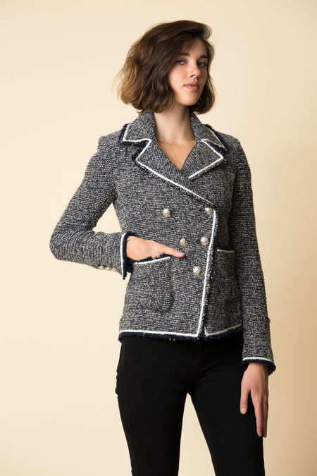 Veronica Beard VB Carroll Portrait Neckline Jacket