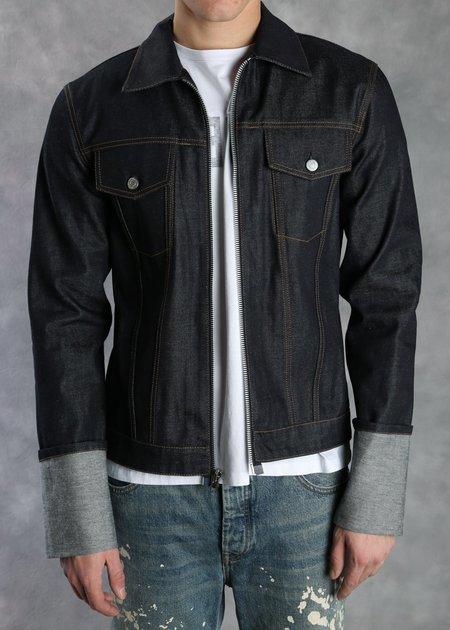 Helmut Lang Zip Raw Denim Jacket