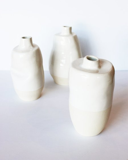 Work by Nonny Tall White Vessel