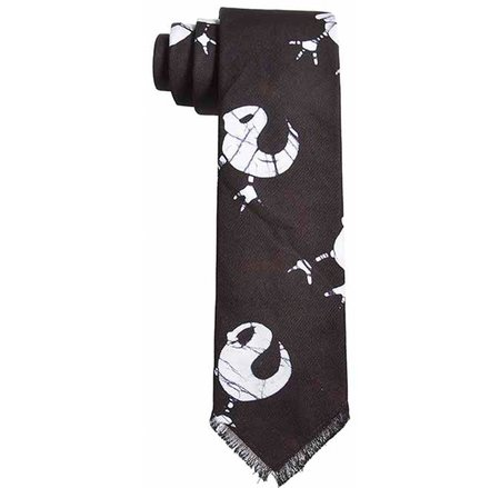Post-Imperial Adire Fowl Pattern Tie