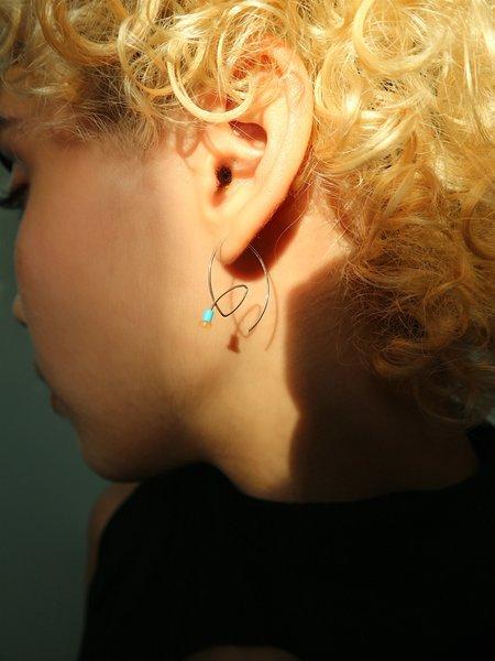 Melissa McArthur Turquoise & Opal Loop Earrings