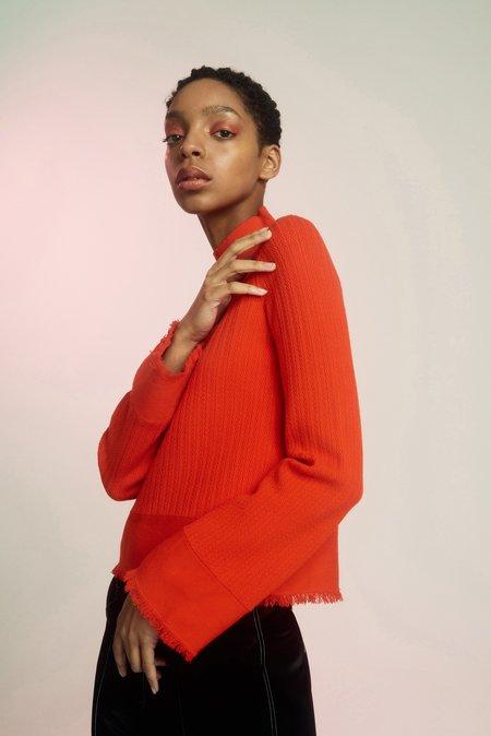 Edun Herringbone Bell Sleeve Sweater
