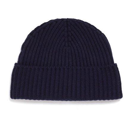 Unis Cashmere Knit Hat - Navy