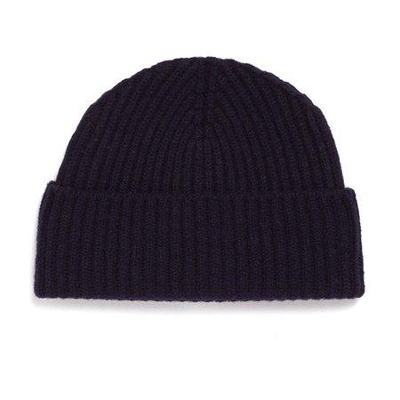 Unis Lambswool Knit Hat - Navy