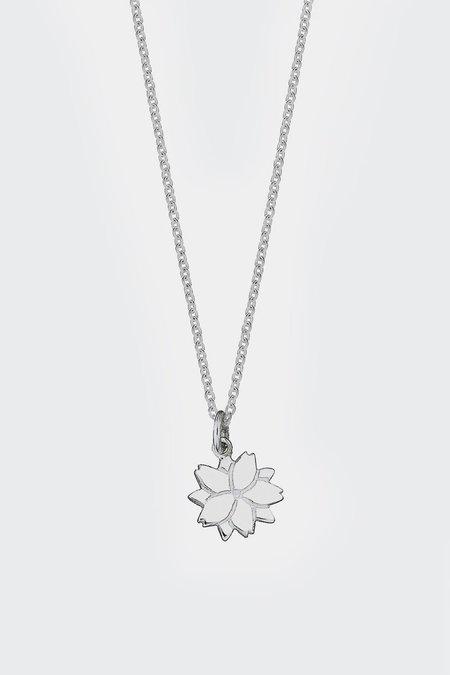 Meadowlark Cherry Blossom Charm Necklace - Silver