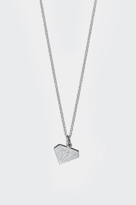 Meadowlark Diamond Charm Necklace - Silver