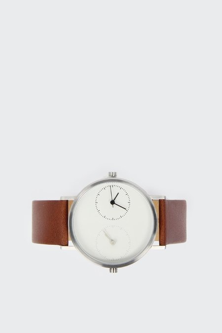 Kitmen Keung Long Distance 1.0 Classic Brown Calf Watch - Stainless steel