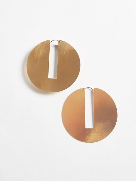Lila Rice Split Disc Hoop Earrings