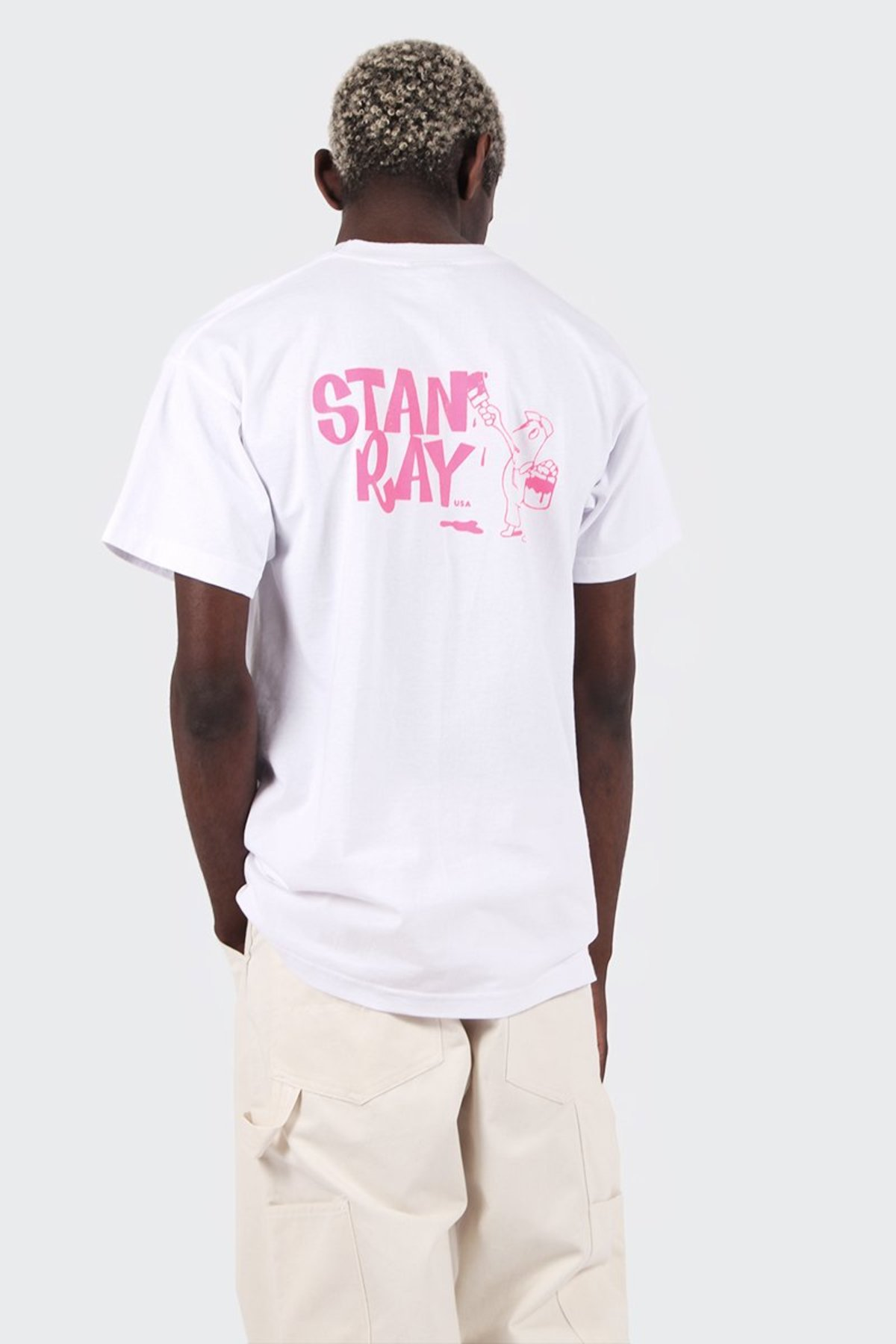 Stan Ray Painter T-Shirt - White pink  1756990167f8