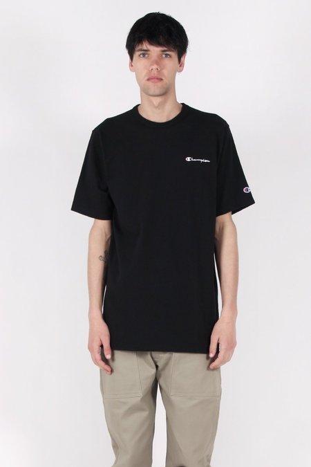 Champion Script Logo Heritage T-Shirt - Black