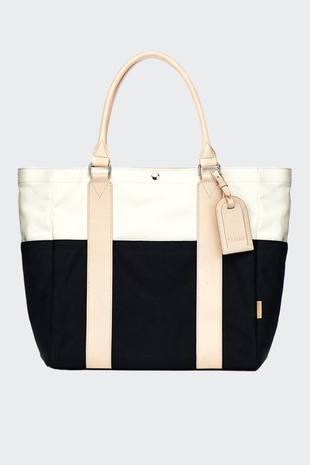 TAIKAN EVERYTHING Sherpa Tote Bag - black/off white