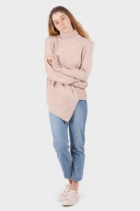 The Fifth The Call Out Knit Sweater - pink haze