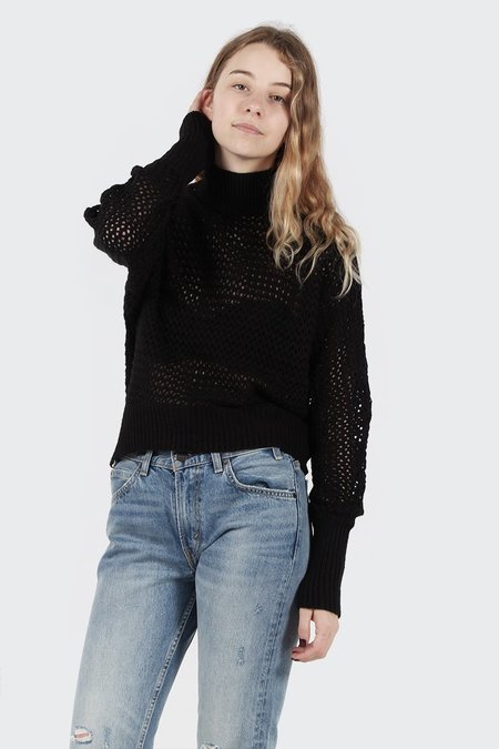 The Fifth Triangle Knit Sweater - black