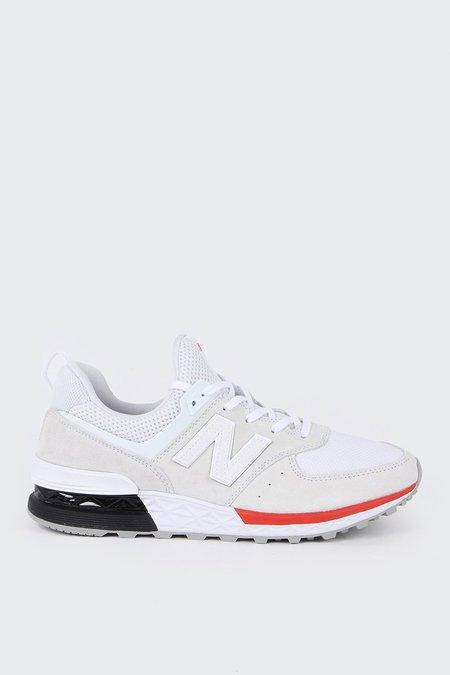 New Balance Sport 574 - white/red
