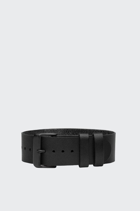 TID Watches Wristband - black leather/black buckle