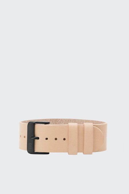TID Watches Wristband - natural leather/black buckle