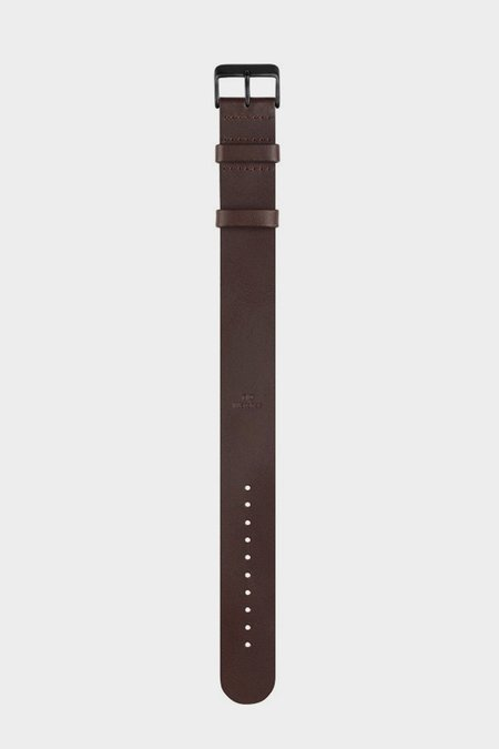 TID Watches Wristband - walnut leather/black buckle