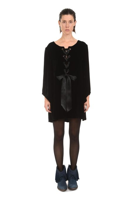 Lindsey Thornburg Rembrandt Black Velvet Dress