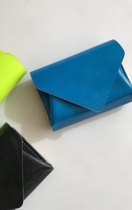 Blue Carmine Flip Wallet