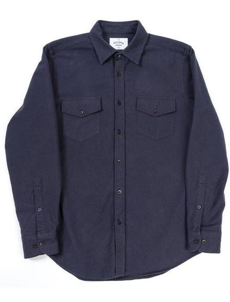 Portuguese Flannel Navy Campo Shirt
