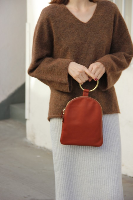 OTAAC/MYERS COLLECTIVE LARGE RING POUCH - COGNAC