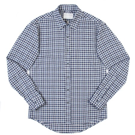 Raleigh Denim Workshop Classic Button Up - Blue Check
