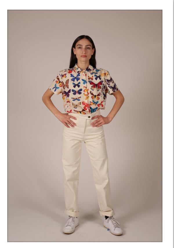 Unisex Nahanni Arntzen Butterfly shirt, short sleeve