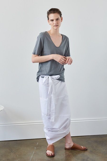 Kowtow Building Block V Tee - Dove Grey