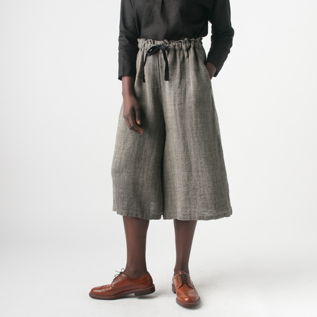 Adeline Gather Pant in Herringbone