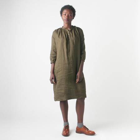 Fog Linen Work Maja Dress in Olive