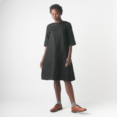 Fog Linen Work Megu Dress in Black
