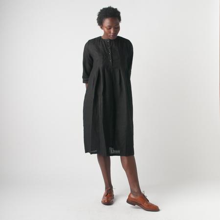 Fog Linen Work Anja Tuck Dress in Black