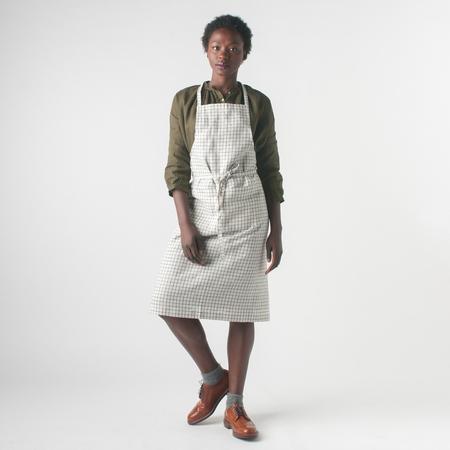 Fog Linen Work Linen Full Apron in Jenn Check