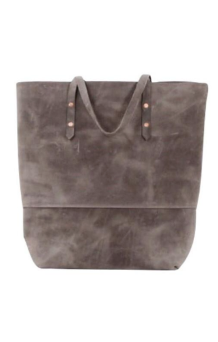 Sunday Supply Co. All Leather Mills Tote - Grey