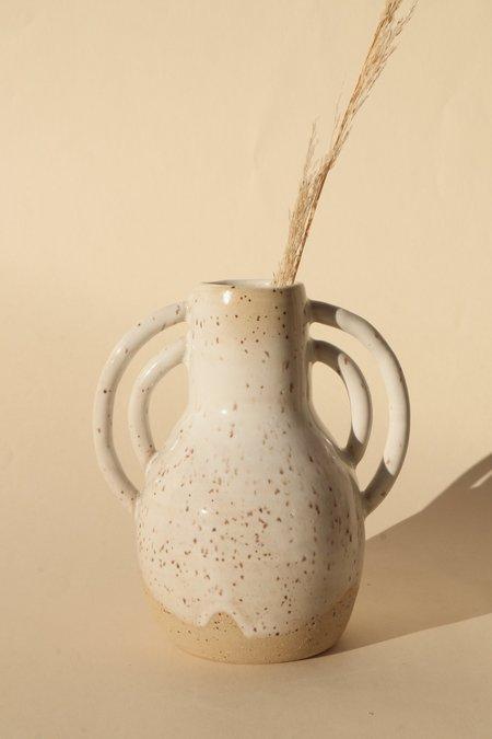 Basin and Range Burnt White Speckle Vase