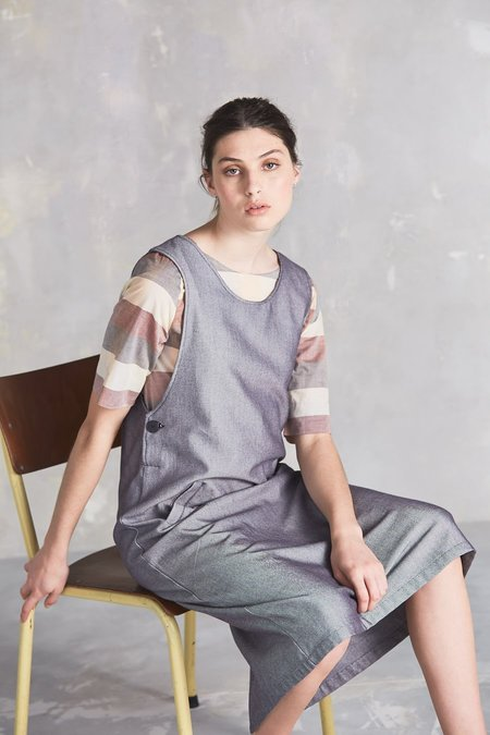 Kowtow Folk Dress - Chambray